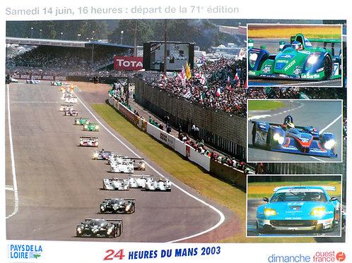 Le Mans - Depart de la 71 edition