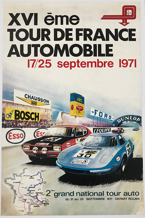 1971- XVI Tour de France Automobile