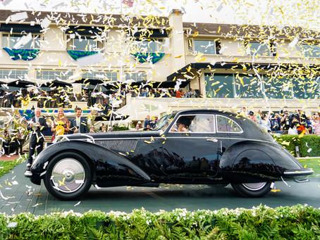 Un Alfa Romeo 8C 2900B Touring de 1937, nombrado Best of Show en 68º Pebble Beach Concours d'Ele