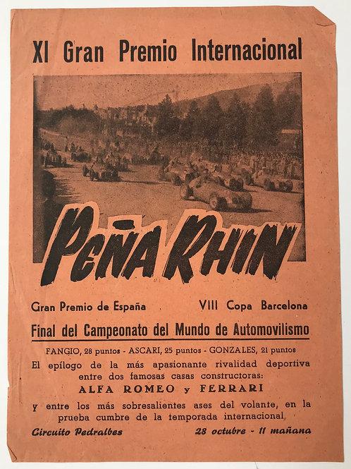 1951 XI Gran Premio Internacional Peña Rhin