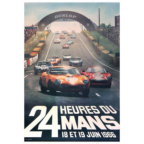Original 1966 Le Mans 24h Poster