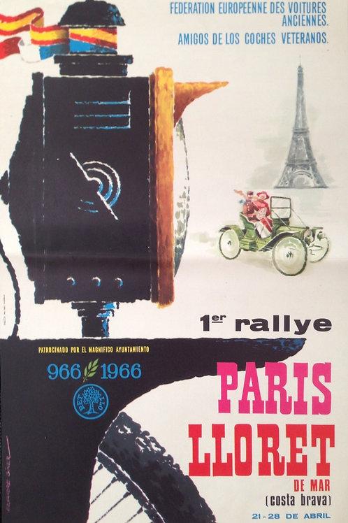 1er Rallye Paris-Lloret de Mar 1966