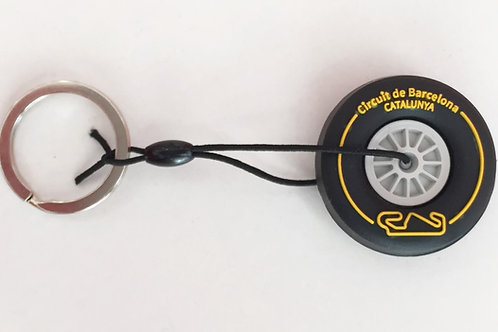 Keyring Tire Yellow