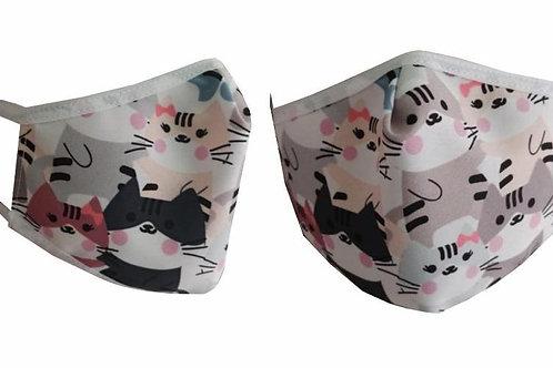 Anti-Fluids Mask-Pink Kittens