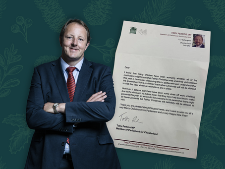 Toby Perkins MP Sends A Christmas Letter Of Reassurance To Local School Kids