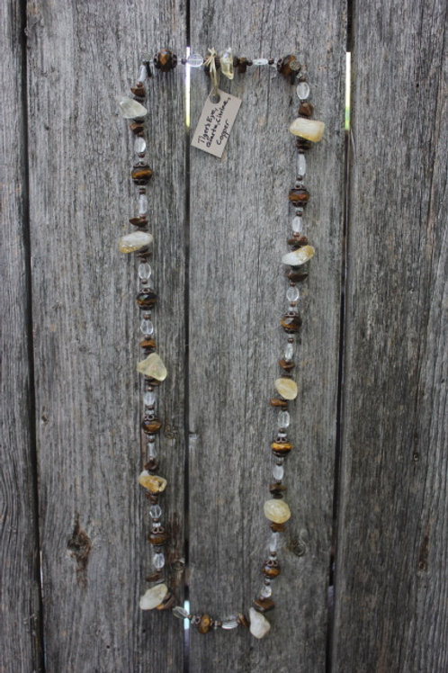 Tiger's Eye & Citrine Necklace