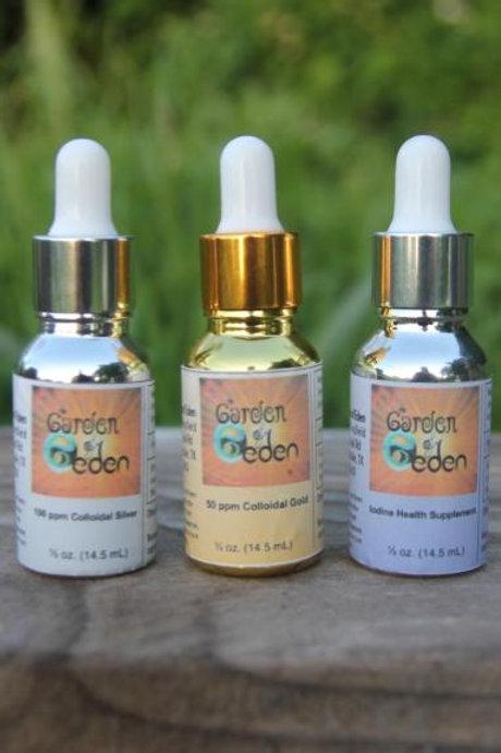 Healing Trio: Colloidal Silver, Colloidal Gold, Nascent Iodine