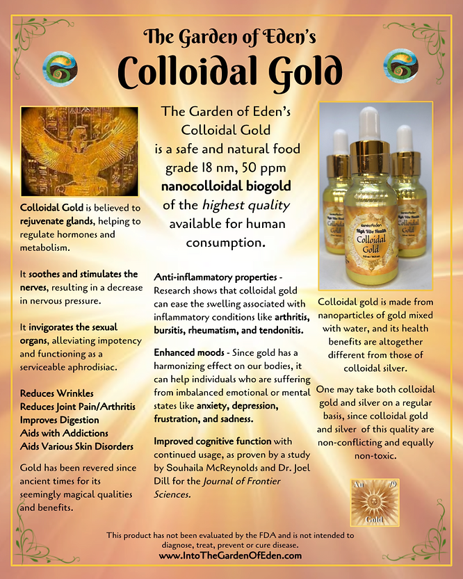 Garden of Eden Colloidal Gold Display.pn