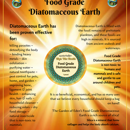 Food Grade Diatomaceous Earth for Health & Wellness