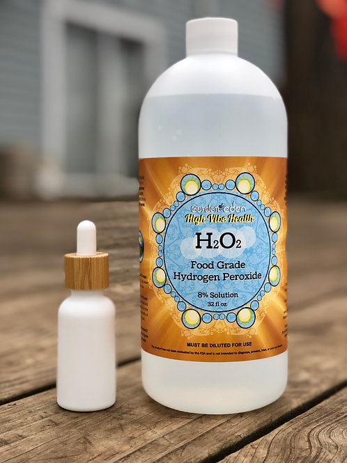 32 oz 35% Diluted to 8% Food Grade Hydrogen Peroxide for International Shipping