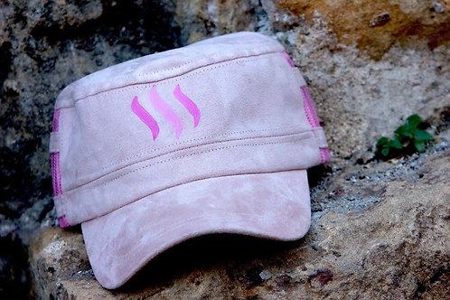 SteemGear Pink Faux Suede Cap