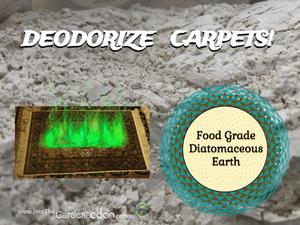 Garden of Eden Diatomaceous Earth deodorize carpets