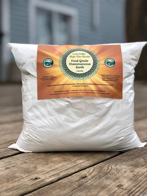 3 pounds Food Grade Diatomaceous Earth