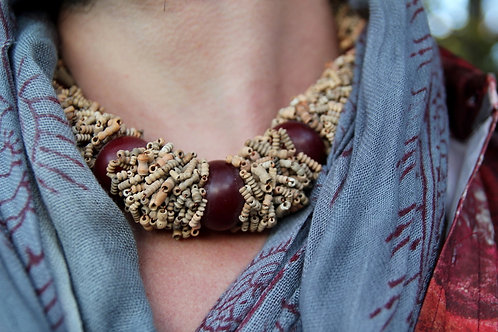 Antique African Pottery Bead Necklace