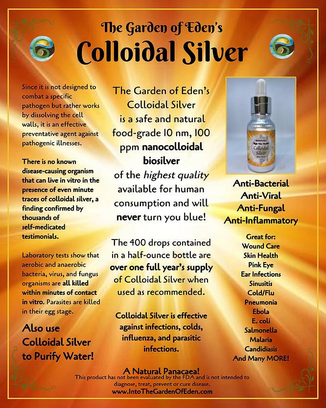 Garden of Eden Colloidal Silver Display