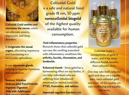 Colloidal Gold for Health and Wellness