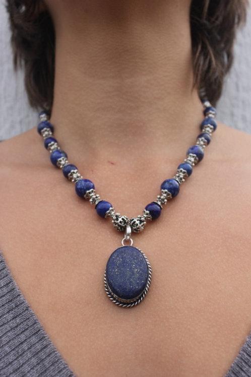Lapis Lazuli Discs Necklace