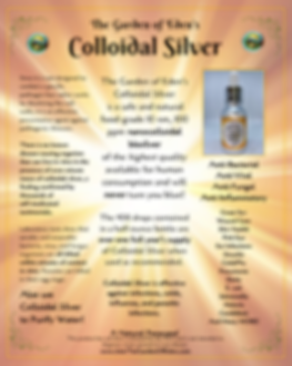 Garden of Eden Colloidal Silver Display