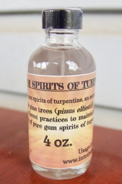 4 oz 100% Gum Spirits of Turpentine