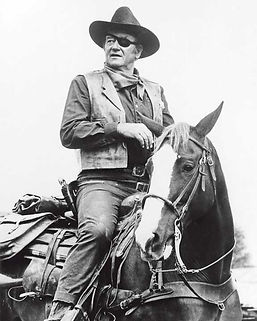 John Wayne is a prime example of never giving up.