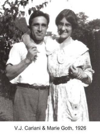 V.J. Cariani & Marie Goth in Brown County, 1926