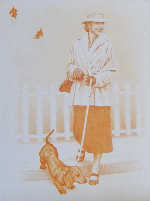 'Woman With Dog' by Roger Merkel