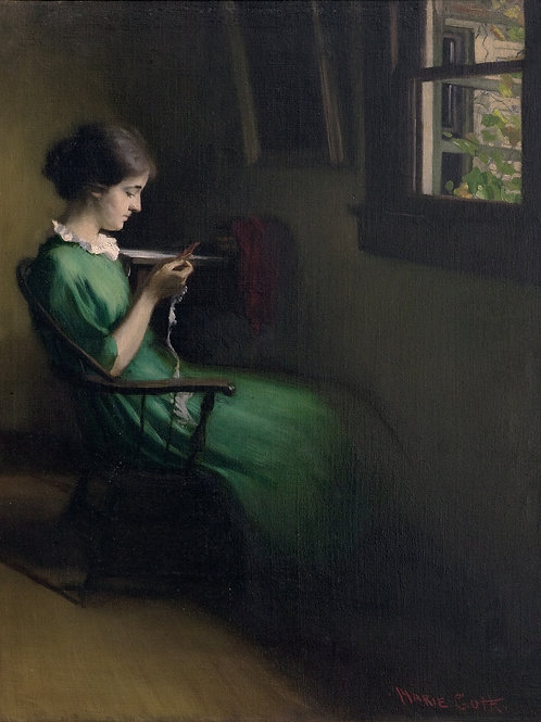 Genevieve Knitting by Marie Goth