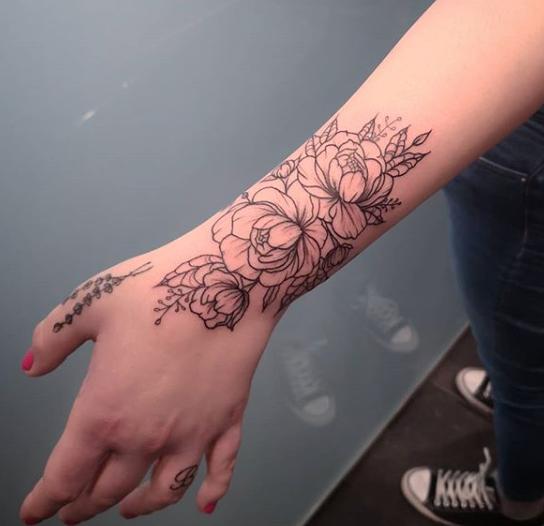Jay Ivaree Tattoo Wristlet 2