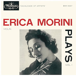 Erica Morini Plays, Vol.1