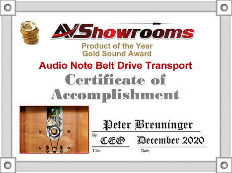 Audio-Note-Belt-Drive-Award.png