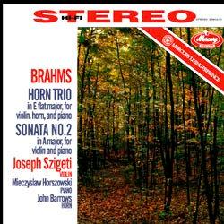 Brahms : Horn Trio, Sonata for Violin and Piano No. 2