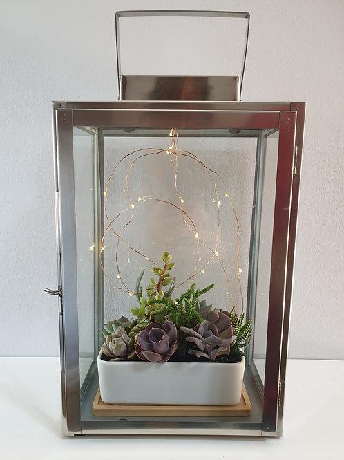 Square Lantern Planter