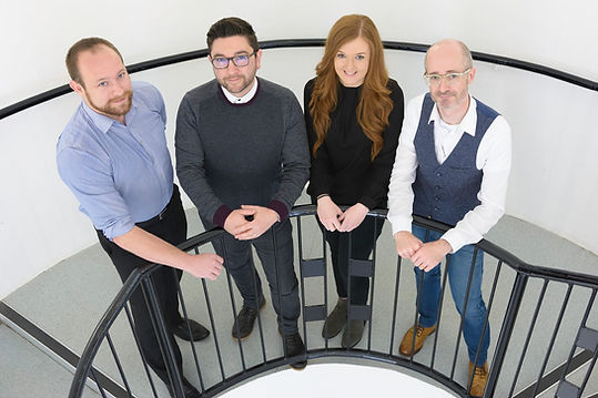 The Nicholson McShane Architects team; Jason, Paul, Nicola and Dougie