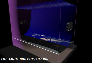 square earth cosmology - light body of star