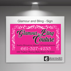 Glamour and Bling Sign
