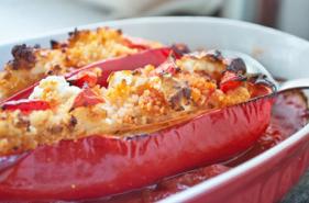 Gefüllte Paprika mit Couscous