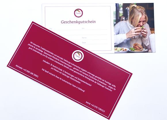 Gutschein für private Salzburger Schmankerttour für 2 Personen