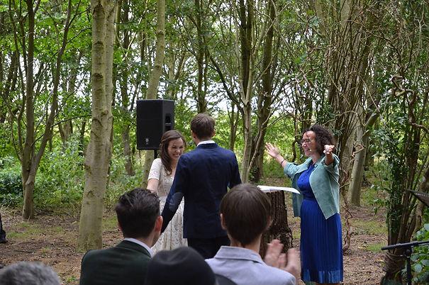 Woodland wedding ceremony
