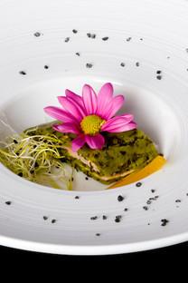 Fingerfood-Catering-Dekoration-Blume-Essen-Lachs
