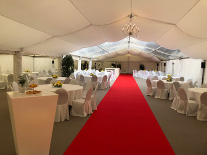 Dekoration-Roter Teppisch-Hochzeit-Event-Veranstaltung