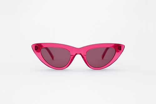 Moon Clear Red / Pink Solid Lens