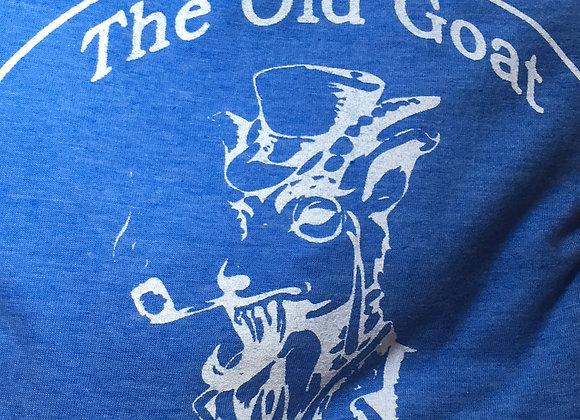 Classic logo in blue