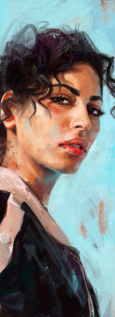 Retrato de Mina El Hammani