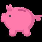 貯金箱のアイコン - ピンク