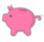Piggy Bank Icon - Pink