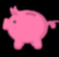 Piggy Bank Icon - Pink