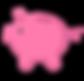 Piggy Bank Ikon - Pink