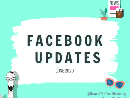 What's New on Facebook? June 2020