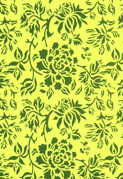 Green and Yellow Floral Print