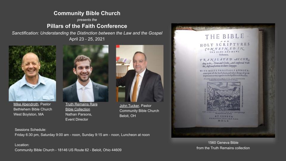 POTF 2021 Spring Conference - Sanctifica